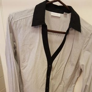 Black and white stripe blouse